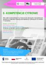 plakat projektu Ekompetencje cyfrowe